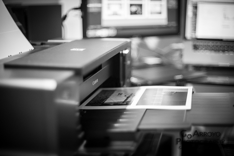 Printing and Getting Ready, Giovanni Arroyo Photography
