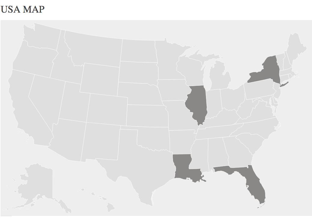 USA New Map