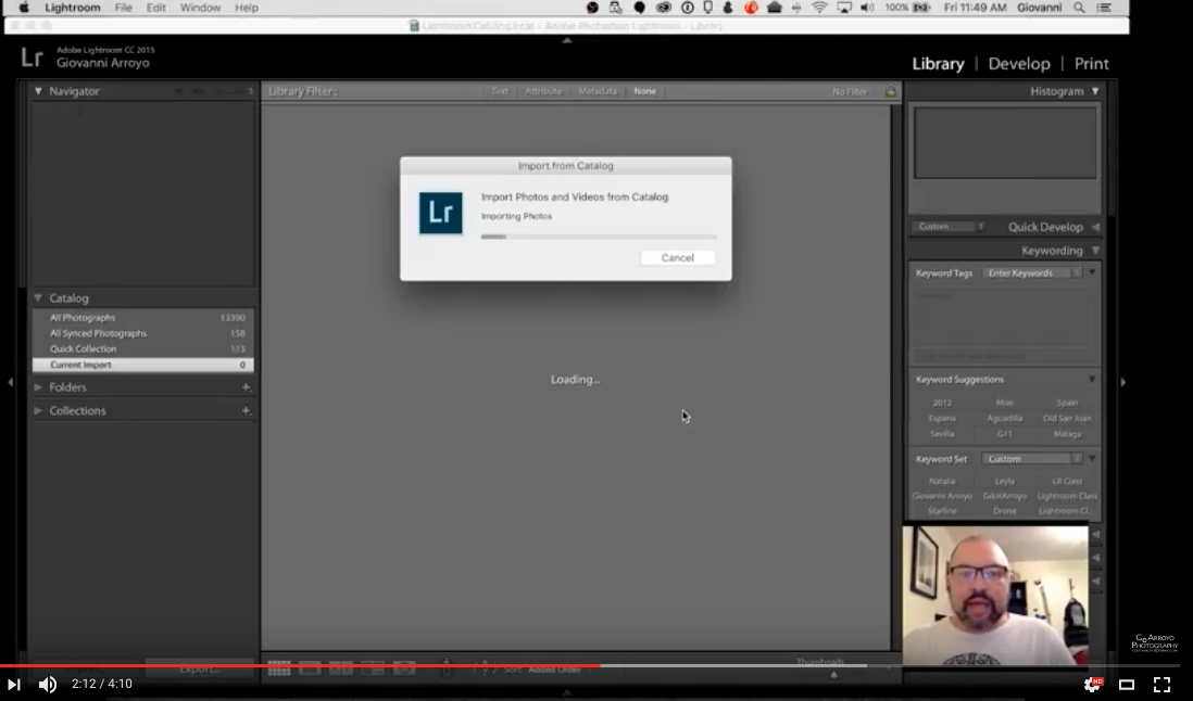 Combining Lightroom Catalogs Tutorial