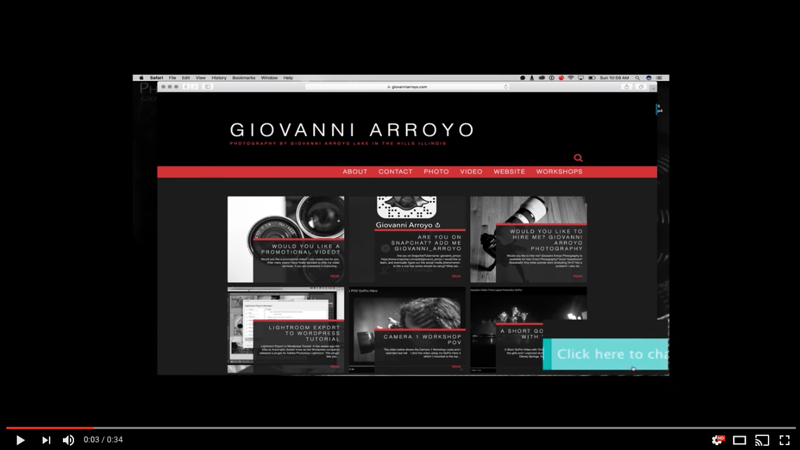 New Features added to GiovanniArroyo.com