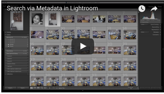 Search via Metadata in Lightroom